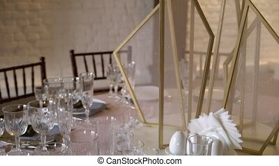 Table celebration decoration at wedding party