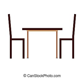 table chairs house icon