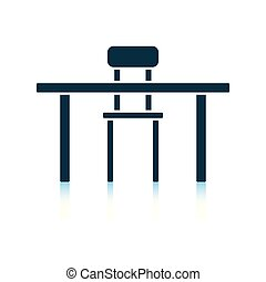 table, chaise, icône