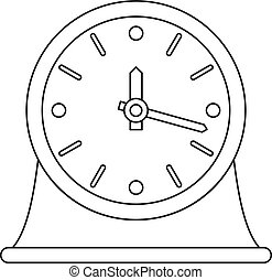 Table clock icon, outline style.