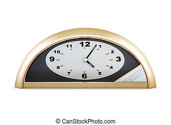 Table clock isolated on white background. 3d render image.