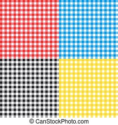 Table cloth seamless pattern vector illustration