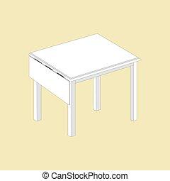 table, cuisine, icône