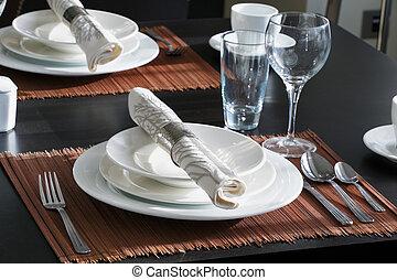 table, dîner, ensemble