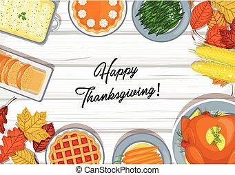 table, dîner, thanksgiving