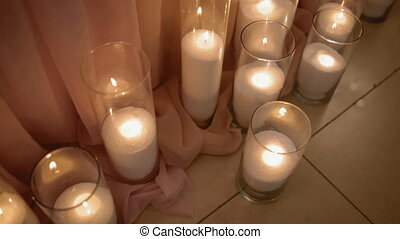 Table decorated with candles