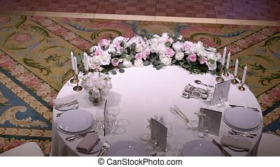 Table decoration at the party
