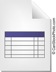 Table chart document file type illustration clipart