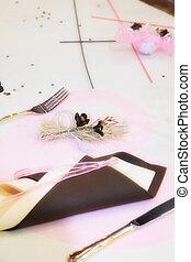table, ensemble, pour, a, mariage