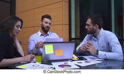 table, entre, réunion, professionnels