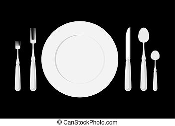 Table etiquette. Cutlery. Forks, spoons and knives