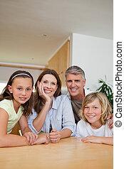 table, famille, séance