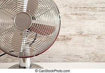 Table Fan - silver colored table fan