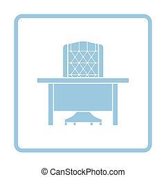 table, fauteuil, icône