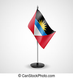 Table flag of Antigua and Barbuda