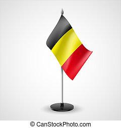 Table flag of Belgium