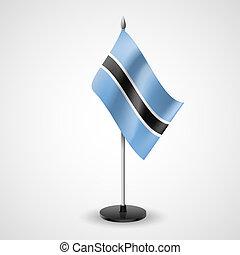Table flag of Botswana