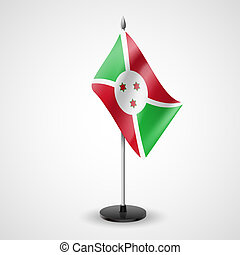 Table flag of Burundi