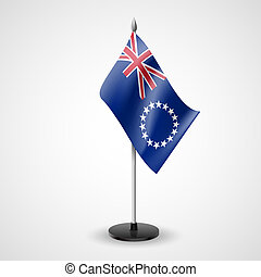 Table flag of Cook Islands