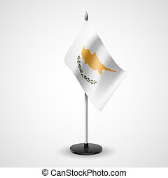 Table flag of Cyprus