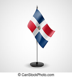 Table flag of Dominican Republic