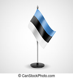 Table flag of Estonia