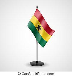 Table flag of Ghana