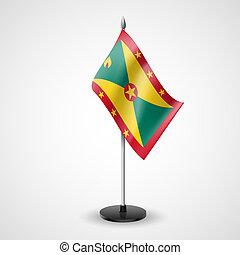 Table flag of Grenada