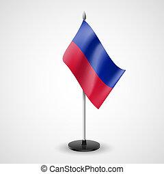 Table flag of Haiti