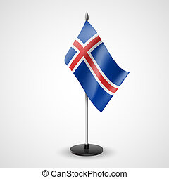 Table flag of Iceland