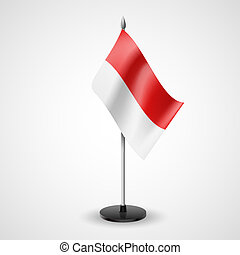 Table flag of Indonesia