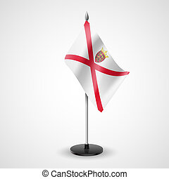 Table flag of Jersey