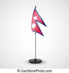 Table flag of Nepal