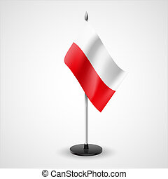 State table flag of Poland. National symbol