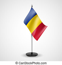 State table flag of Romania. National symbol