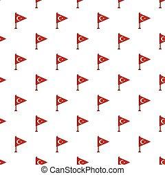 Table flag of Turkey pattern
