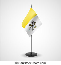 Table flag of Vatican City