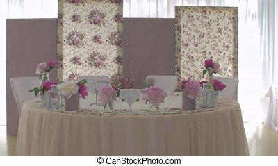 table, floristics, mariage