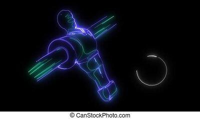 Table football video animation laser