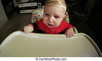 Crying child - Table for feeding baby Crying child