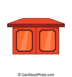Table for living room icon, cartoon style