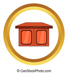 Table for living room vector icon, cartoon style
