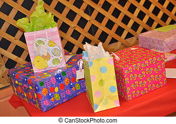 Table full of gifts