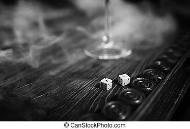 table game handmade dice and backgammon Gambling
