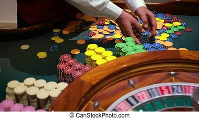 table game in a casino with the roulette in a casino and the...