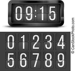table, horloge