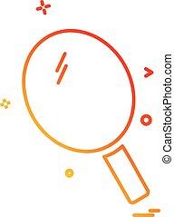 Table icon design vector