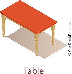Table icon, isometric style.