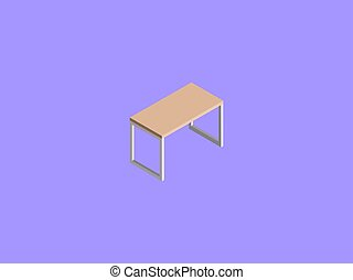 Table, illustration, vector on white background.