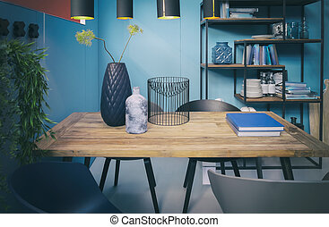 table in home interior